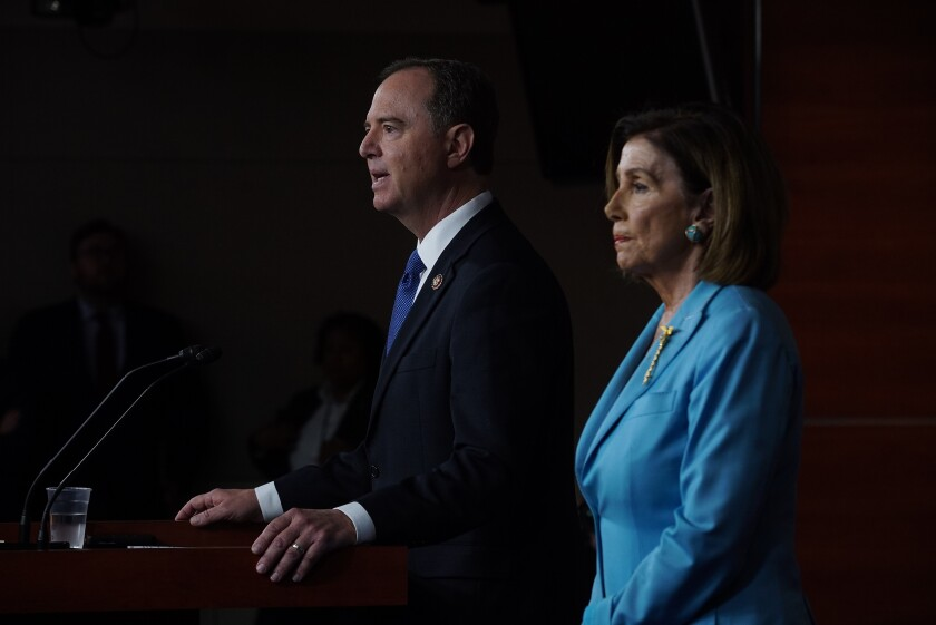 House Speaker Nancy Pelosi and Rep. Adam Schiff