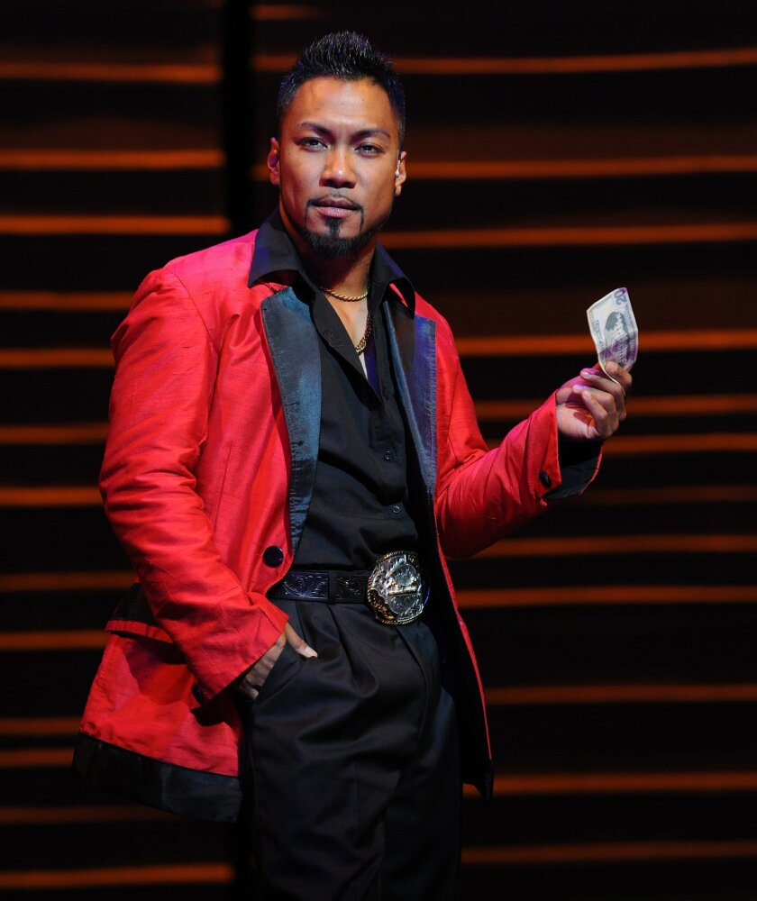 """Johann Michael Camat as The Engineer, in Moonlight Stage Productions' """"Miss Saigon."""""""