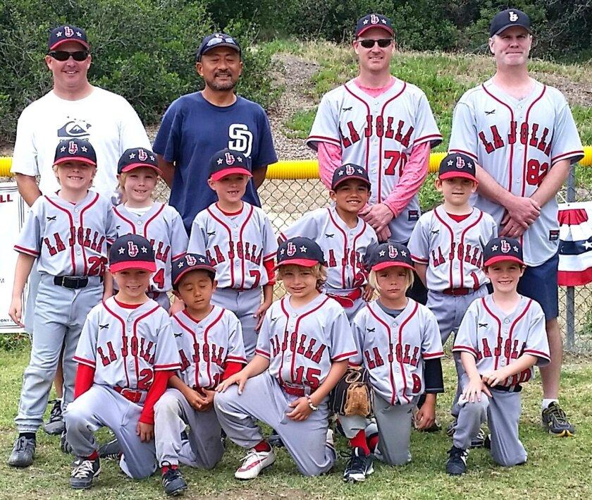 La Jolla Youth Baseball's Shetland Red team