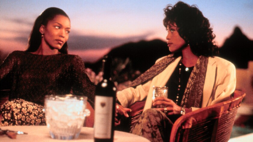 "Angela Bassett, left, and Whitney Houston co-starred in the adaptation of ""Waiting to Exhale"""