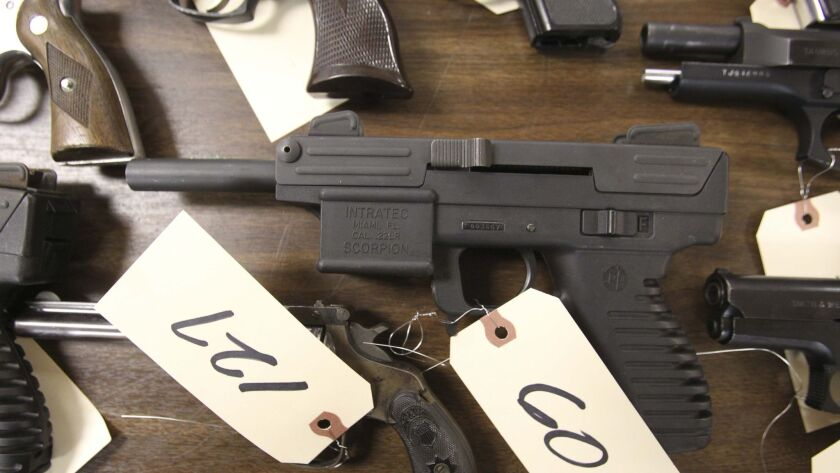 A .22 caliber fully automatic machine pistol with a 30 round ammunition magazine was turned in, no questions asked, at the event.