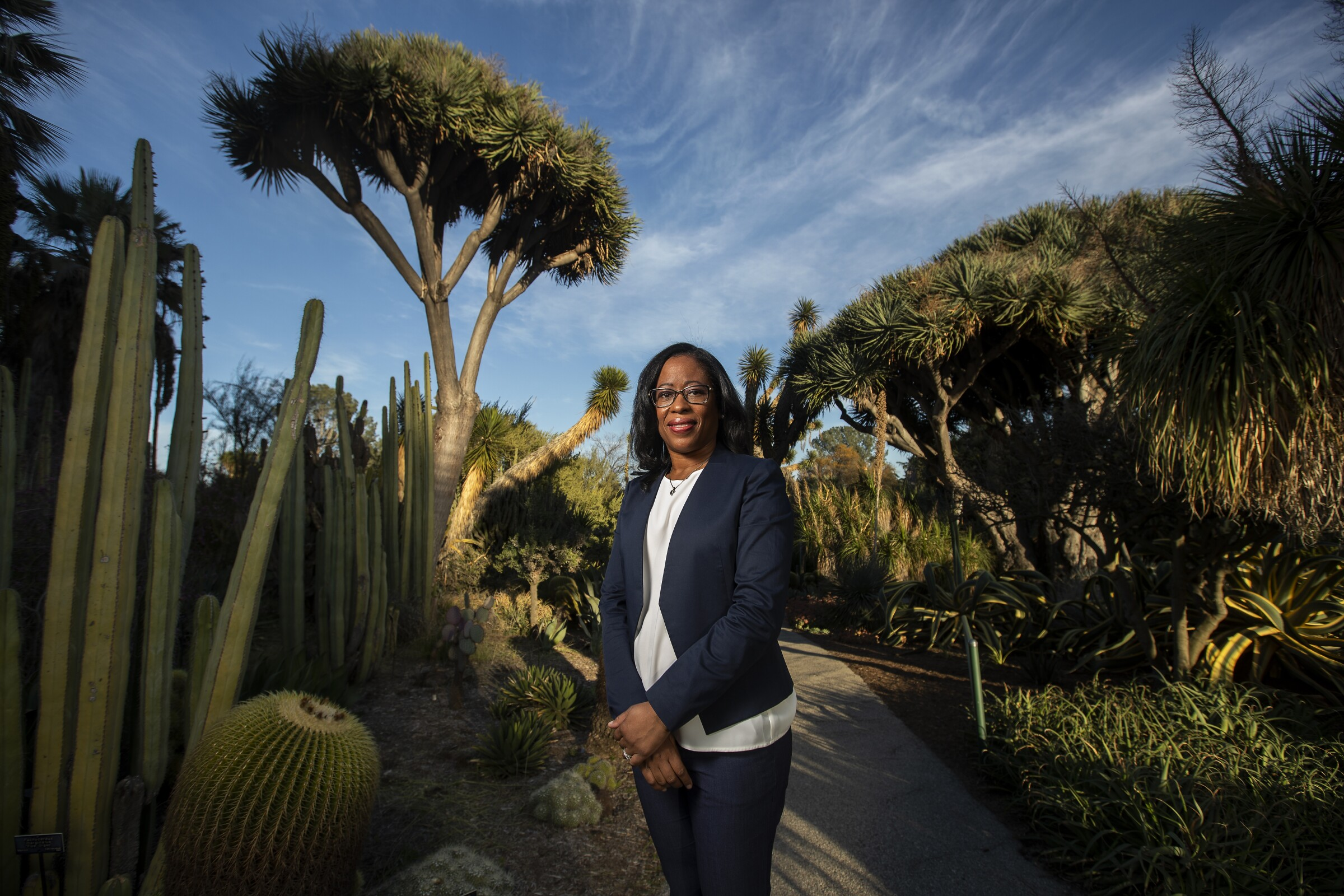 Misty Bennett, chief human resources officer at the Huntington Library desert garden in San Marino