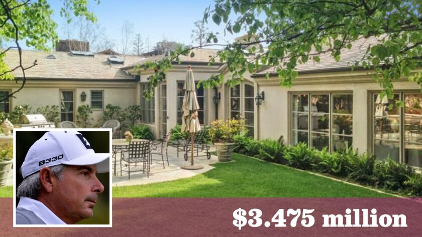 After selling in Brentwood, the golfer has bought a home in a private golf course community in Newport Beach.