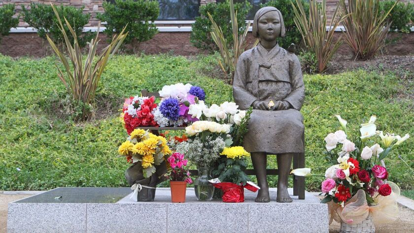 The Comfort Women Statue in Central Park in Glendale on Thursday, January 30, 2014. (Tim Berger/Staf