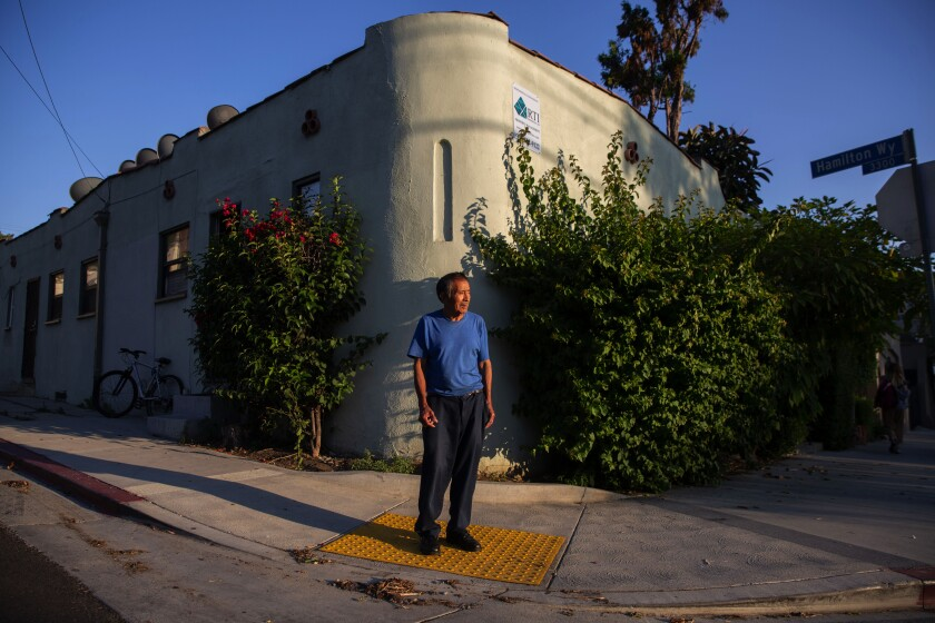 Mario Canel faces eviction from his Silver Lake apartment.