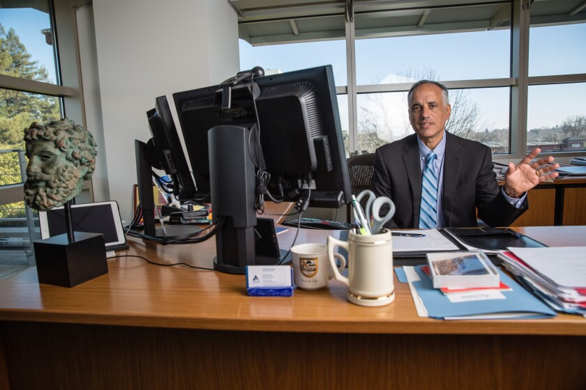 The California Public Employees' Retirement System earned only 3% in the 10 months that ended April 30. Above, Ted Eliopoulos, CalPERS' chief investment officer.
