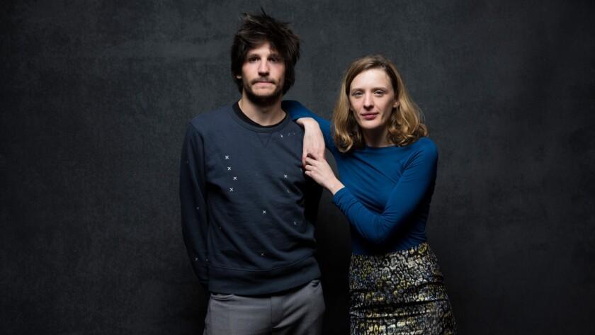 "Actor Felix de Givry and director Mia Hansen-Love of the film ""Eden."""