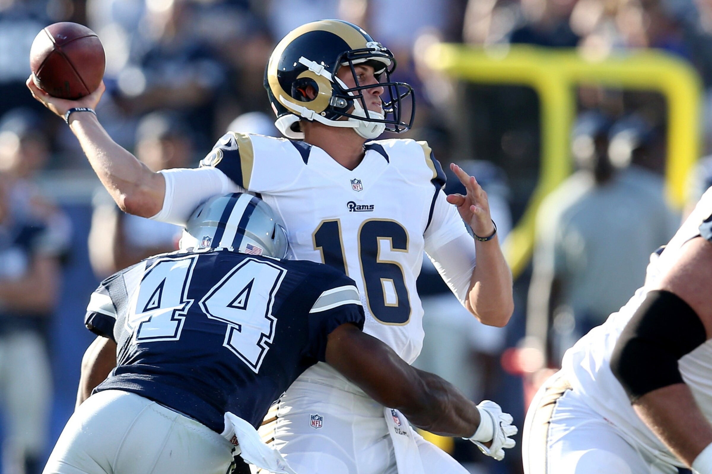 Jared Goff and the Rams play host to the Dallas Cowboys on Sept. 13.