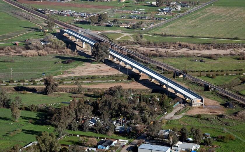 Fresno River viaduct for future California bullet train shown in 2018