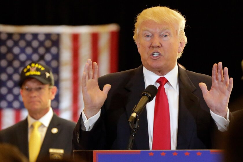 Republican presidential candidate Donald Trump answers questions during a news conference in New York, Tuesday, May 31, 2016. (AP Photo/Richard Drew)