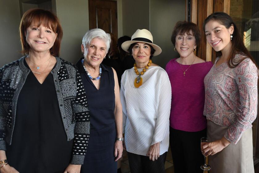 Melissa Bartell, Susan Ulevich, Gail Knox, SD Opera board chair Carol Lazier, Tiffany Wai-Yingberes