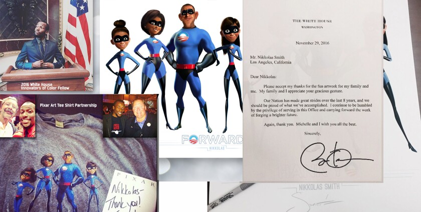Nikkolas Smith Obama The Incredibles