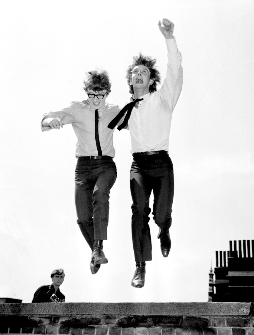 Peter Asher, left, and Gordon Waller on July 28, 1964.