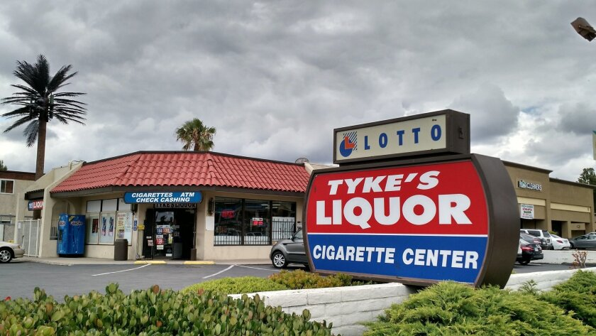 Tyke's Liquor in El Cajon.