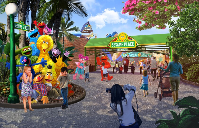 An artist's rendering of the entrance of Sesame Place