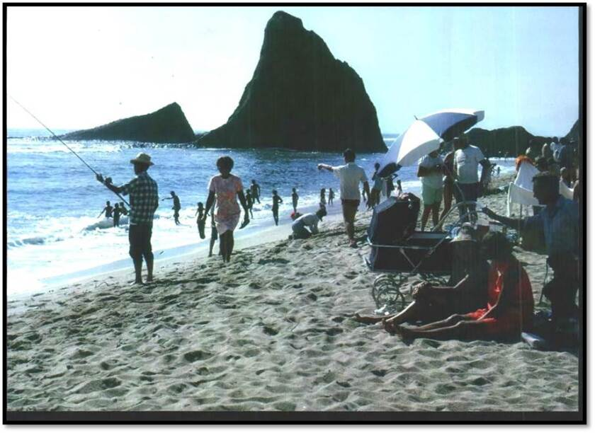 Martins Beach in the 1970s
