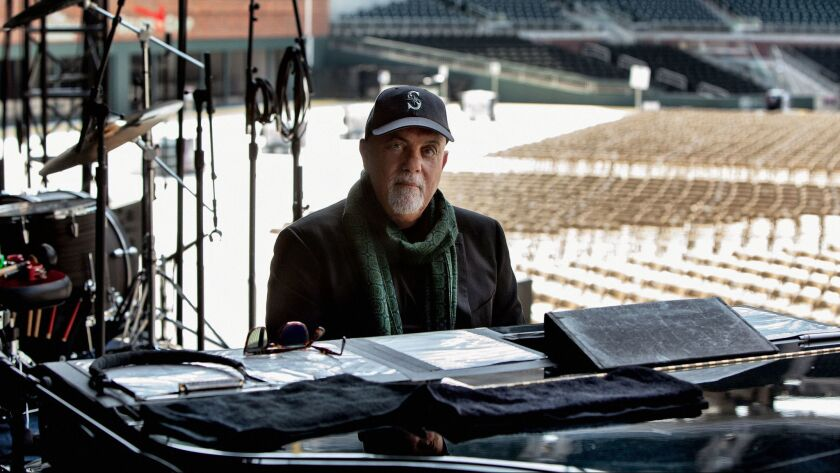 Bill Joel rehearsing before a recent concert in Atlanta. Billy Joel performed the first live concert