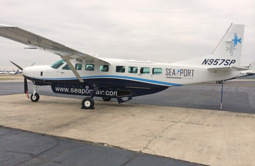 SeaPort Airlines, which operates a fleet of six, nine-passenger Cessna Caravans, has dropped service to and from San Diego.
