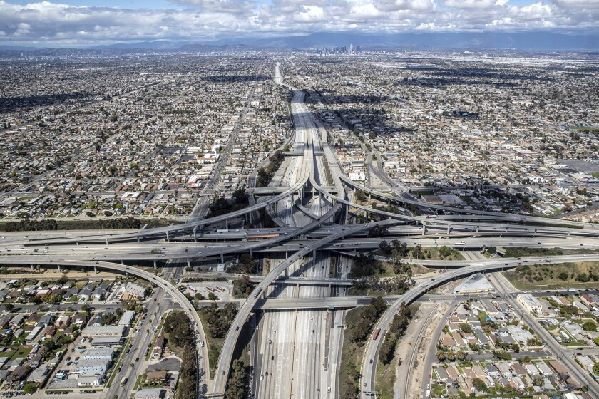 Intersection of the 110 and the 105 freeways