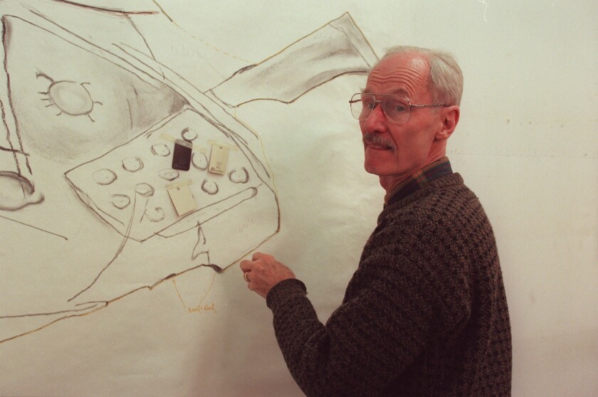 Artist Richard Artschwager in 1997.