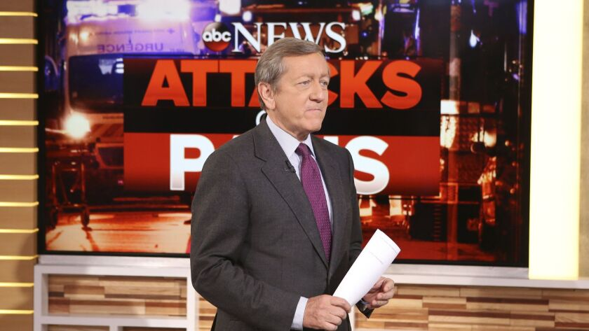 """Veteran investigative correspondent Brian Ross, appearing on ABC's """"Good Morning America"""" in 2015, announced he is leaving the network after 24 years."""