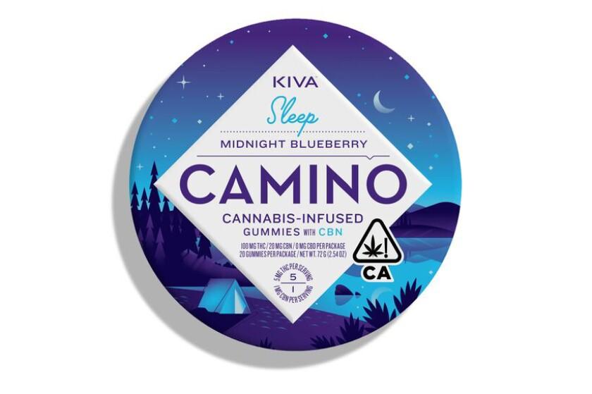 Kiva Confections Camino Midnight Blueberry gummies