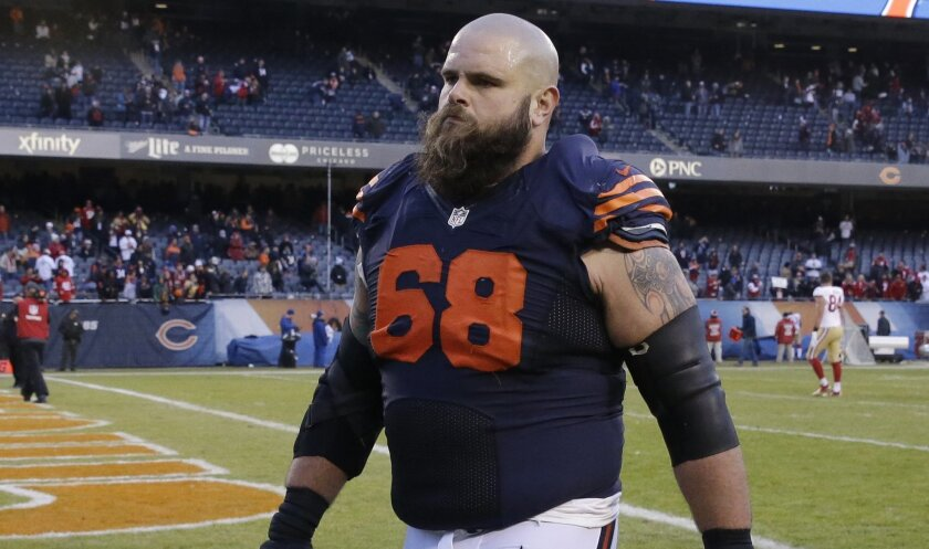 Former Bears center-guard Matt Slauson joined the Chargers on a two-year contract Saturday, sources said.