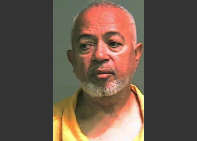 This undated photo provided by the Genesee County Sheriff shows retired Flint, Mich. Police Sgt. Lawrence Woods. Two more people have come forward to say they were assaulted as children by Woods, who is charged with sexual misconduct when he worked at the Flint Police Department in the 1990s, police said. (AP Photo/Genesee County Sheriff)