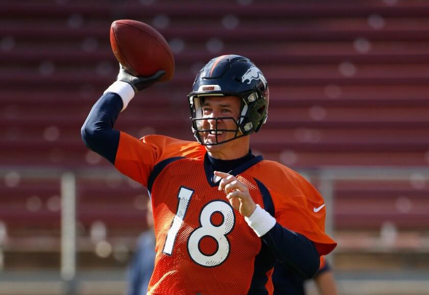 El mariscal de los Denver Broncos, Peyton Manning, busca consquistar su segundo Super Bowl. Getty