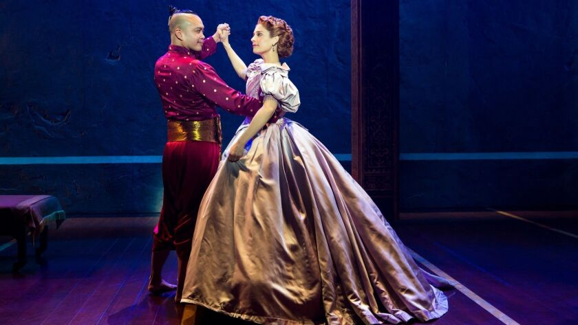 "Jose Llana and Elena Shaddow in ""The King and I."""