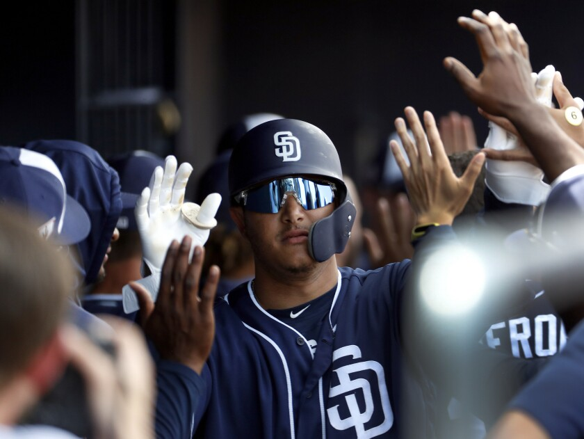 Manny Machado and the Padres could be back to work in a couple weeks.