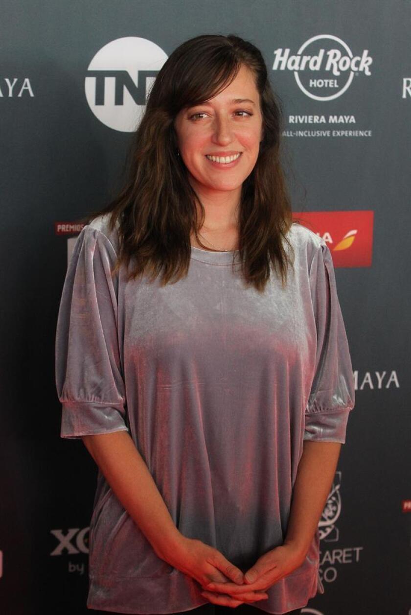 La actriz Mariana Treviño posa este lunes a su llegada a la Tercera Edición de los Premios Platino de Cine Iberoamericano 2019, en la Cineteca Nacional en Ciudad de México (México). EFE