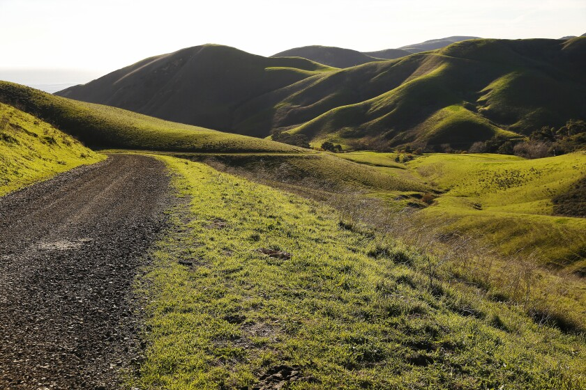 Many roads in Hollister Ranch are unpaved