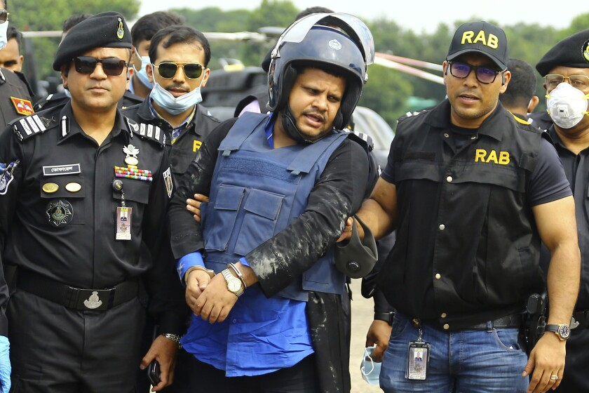Mohammed Shahed, the owner of two hospitals in Bangladesh, was arrested near the Indian border after a nine-day manhunt.