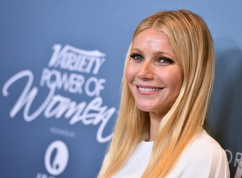 Gwyneth Paltrow arrives at the Variety Power of Women luncheon at the Beverly Wilshire hotel Friday.