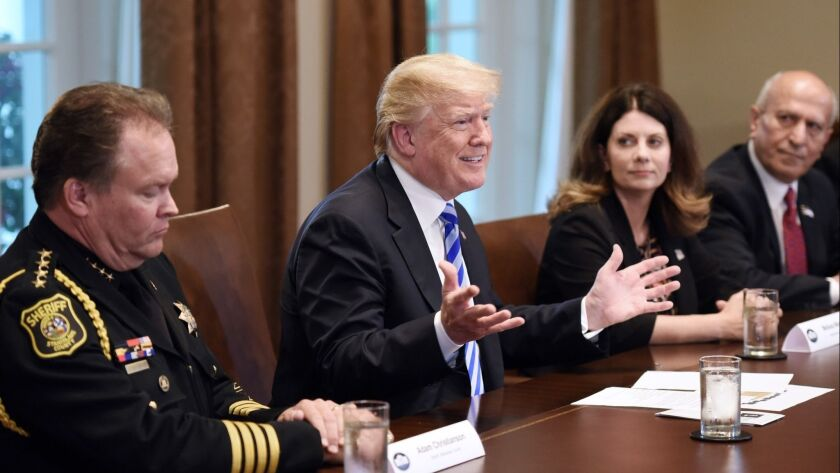 President Trump Hosts Leaders From California To Discuss Sanctuary Cities