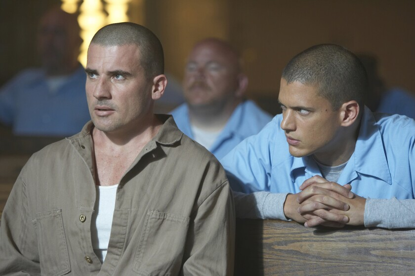 "Wentworth Miller, right, and Dominic Purcell are set to reprise their roles as Michael Scofield and Lincoln Burrows in a revival of the series ""Prison Break,"" premiering midseason on Fox."