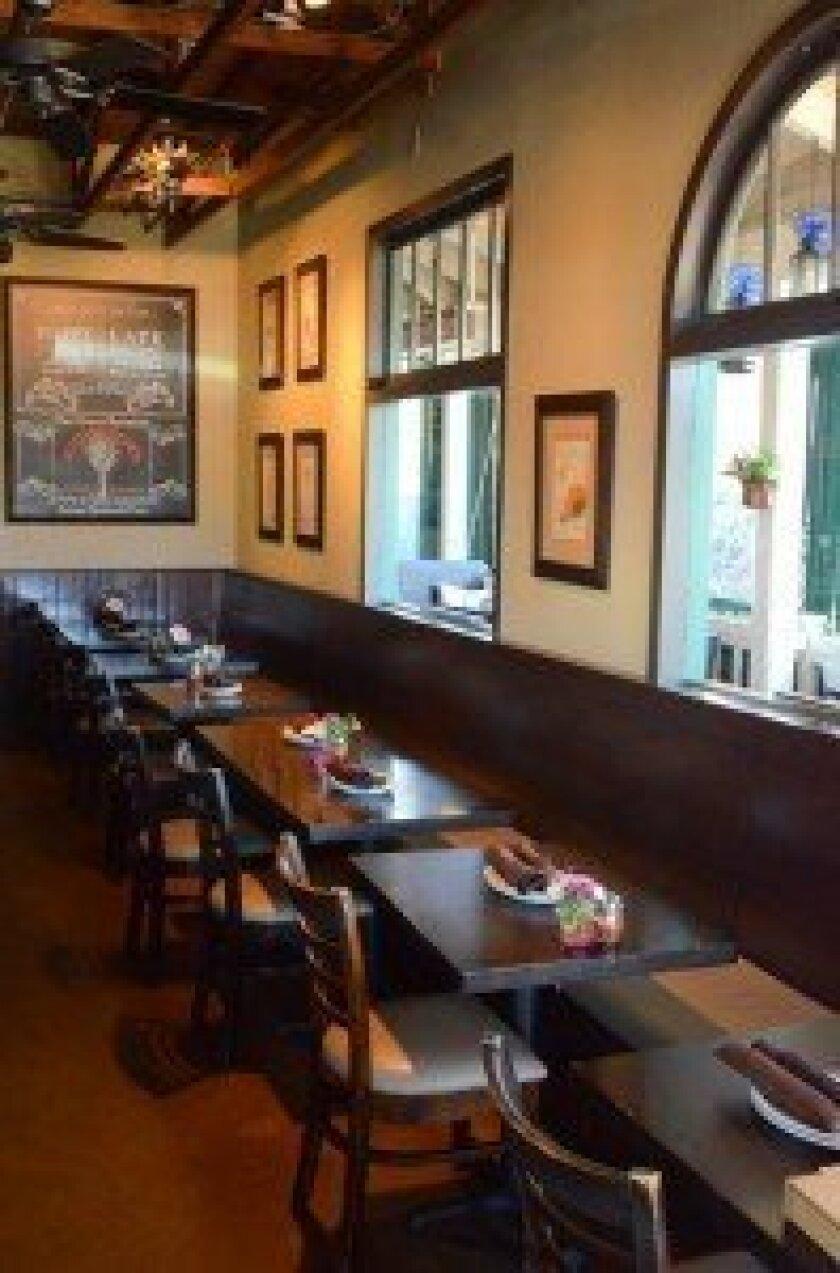 The main dining area at Blue Ribbon Artisan Pizzeria,
