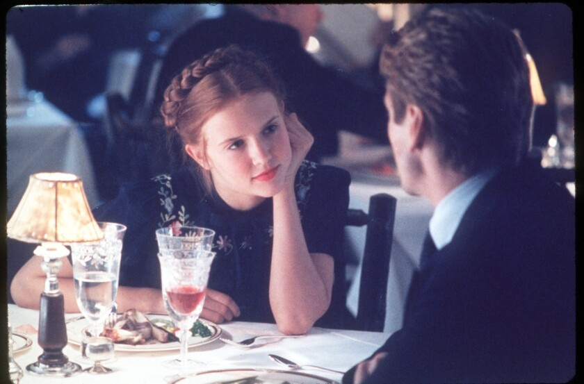"""Dominique Swain as Lolita and Jeremy Irons as Humbert Humbert in the 1998 adaptation of """"Lolita,"""" Vladimir Nabokov's morally challenging masterpiece."""