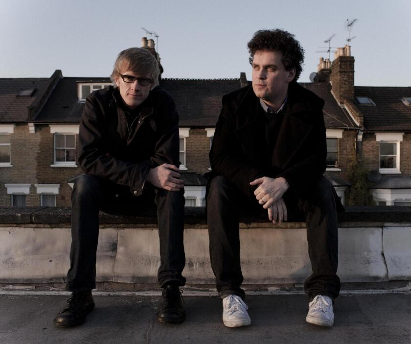 The band Simian Mobile Disco, who will perform a live-installation show on April 26 in Pioneertown, Calif.
