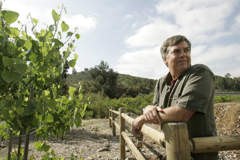 Rob Hutsel, at the San Diego River Garden in Mission Valley, is an important figure behind the push to create parks along the river.