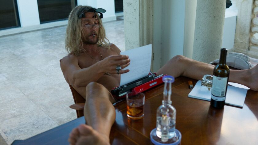 "Matthew McConaughey in a scene from ""The Beach Bum."" Credit: Atsushi Nishijima/ NEON/ Vice"
