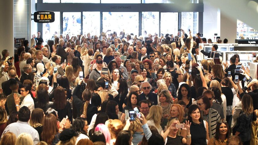 SAN DIEGO, CA 10/12/2017: The new Nordstrom store at the Westfield UTC shopping mall overflowed with