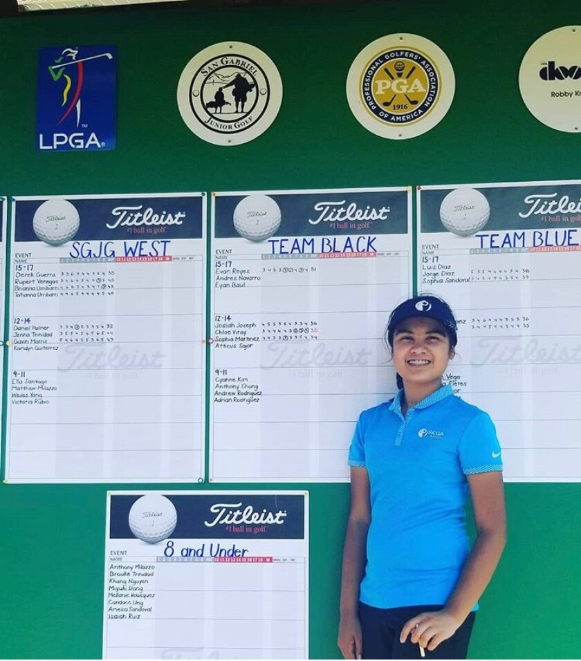 Freshman golfer Sophia Martinez of Whittier is headed to New York after winning a national essay contest about what playing golf means to her.