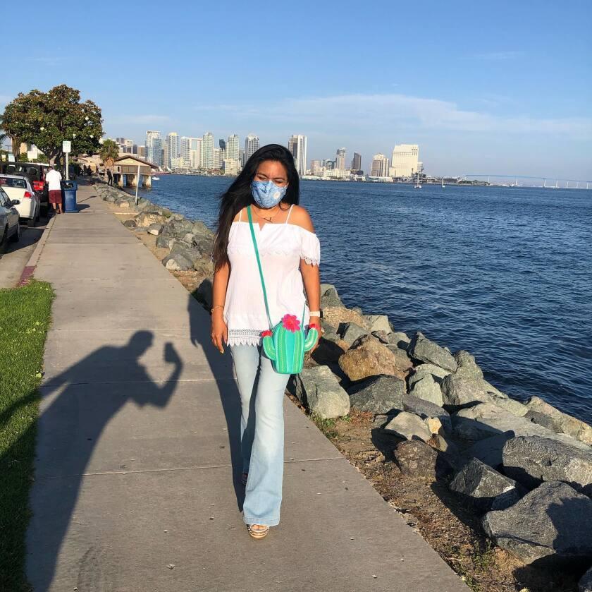 Andrea Figueroa Pelliccia at Harbor Island on July 9, 2020 in San Diego, California.