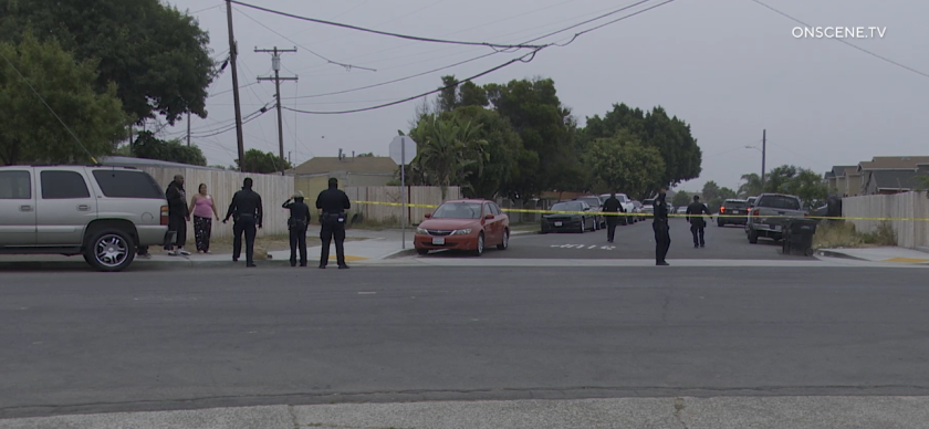San Diego police are investigating a shooting after a man was found shot early Thursday in the Southcrest neighborhood.