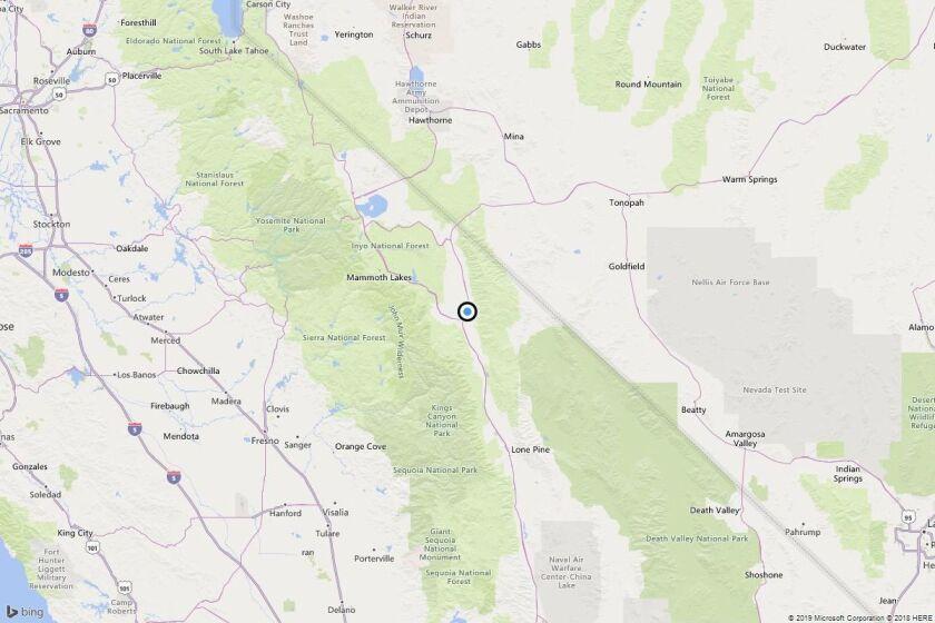 Earthquake: 3.9 quake strikes near Laws, Calif.