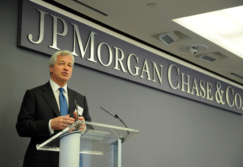 JPMorgan Chase CEO Jamie Dimon said the bank may be under-provisioned by $20 billion if the U.S. hit a double-dip recession.