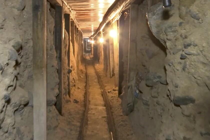 Imagen de la Procuraduría General de la República de México que muestra uno de los túneles descubiertos en Tijuana y que uno de ellos, conectaba con San Diego.