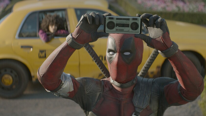 "Ryan Reynolds in the movie ""Deadpool 2."""